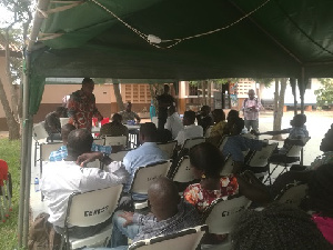 Staff of Expresso Telecom at a durbar to access the current state of the company and way forward
