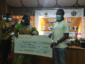 Samuel Nii Tackie winner of the Music Competition