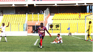 Isaac Mensah scored the only goal in the game