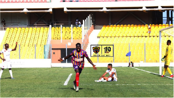 Watch Hearts' only goal in 1 - 0 victory against WAC in CAF CL