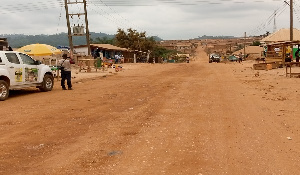 Poor road network in the Amansie West district