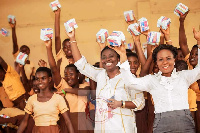 Girls Free Flow Foundation distributes sanitary pads to more than 300 girls in some Kumasi schools