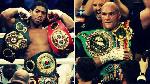 Combination photo of Anthony Joshua (L) and Tyson Fury