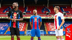 Jordan Ayew models in Crystal Palace new home kit