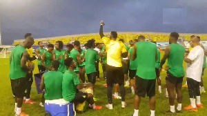 The Black Stars in a heated jama session