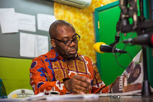 Mathew Opoku-Prempeh was speaking on Peace FM's 'Kokrokoo' show Monday morning