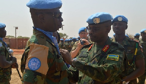 The medals were given in appreciation of their contributions to the peace process in South Sudan