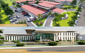 Architectural designs of some of the Agenda 111 hospitals