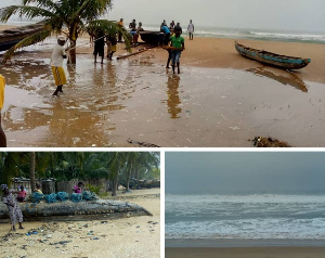 The Tegbi beach in the Volta Region