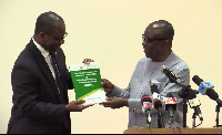 National Security Minister, Kan-Dapaah (R) launches Ghana's structural vulnerability report