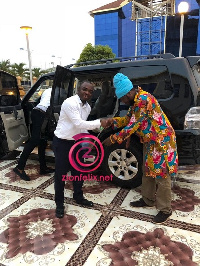 Blakk Rasta received a new Pajero on Tuesday, January 16, 2018, from officials of the channel