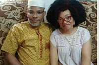 Nnamdi Kanu and wife Uchechi Okwu-Kanu