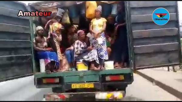 Eyes on the Ground: Truck smuggling 30 people evading lockdown impounded at Ejisu