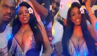 Nana Aba Anamoah flaunting her boobs at an event