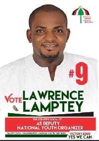 Aspiring Deputy National Youth Organiser of the NDC, Lawrence Nii Lamptey