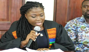 Students Representative Council General Assembly Speaker, Rt. Hon Sandra Emefa Dziwornu.