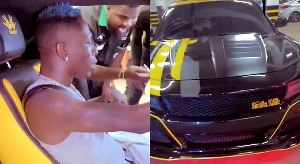 Shatta Wale with his customised car