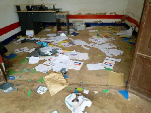 The group destroyed several properties in the office