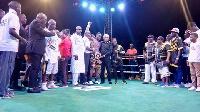 Boxer Patrick Allotey defended his tittle after beating Uganda's Badru Lusambya
