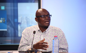 Snr Manager, Supervision Dept. of NIC, Charles Ansong Dankyi speaking on Eye on Port