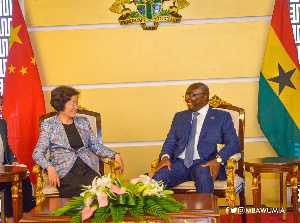 Dr Mahamudu Bawumia with H.E Sun Chunlan, Vice-Premier of the State Council of China