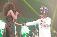 Efya Kojo Antwi on stage