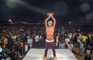 Dancehall artiste, Shatta Wale and his fans