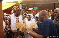 Akufo-Addo with Omanhene of Techiman, Oseadeayo Ameyaw Akumfi IV