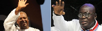 President John Dramani Mahama and Nana Akufo-Addo