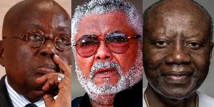President Nana Addo Dankwa Akufo-Addo, JJ Rawlings and Ken Ofori-Atta