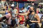 Fabio Gama goes shopping with his family in Kumasi