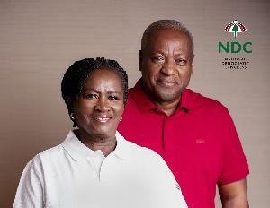 Prof Jane Naana Opoku-Agyemang (L) with former President John Mahama (R)
