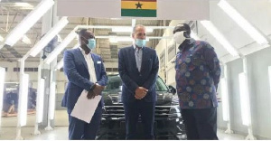 Minister for Trade and Industry, Alan Kyerematen with CEO of the company
