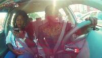 Sista Afia on Celebrity Ride with Zionfelix
