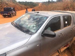 The bullets riddled bullion van