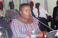 The UER Minister-designate speaking during the vetting
