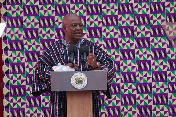 Even if our thumbs are chopped off we will use our toes to vote for you' - Asempaneye chief to Mahama