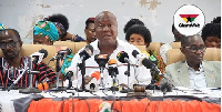 NDC executives at a press conference
