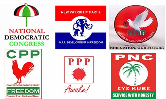 There are over six political parties in Ghana