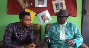 Nana Tito with Hi-Life Legend, Nana Kwame Ampedu
