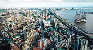 Aerial shot of Nigeria's commercial capital Lagos