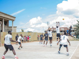 Bridge Spikers playing with Odumase Spartans