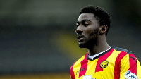 Prince Buaben scored for Hearts