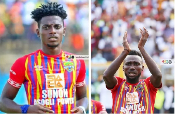 Injured Hearts of Oak duo Caleb Amankwah and Emmanuel Nettey may be available on Sunday