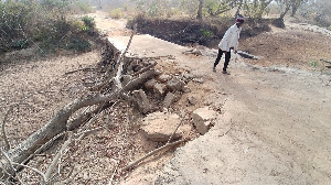 The current state of the bridge linking Kassana and Tanvieli