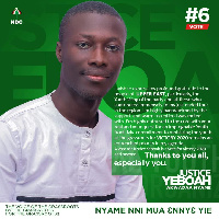 Justice Yeboah, an aspirant for the position of Deputy National Youth Organizer, NDC