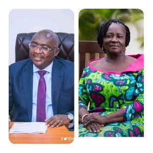 Vice President of Ghana, Dr Mahamudu Bawumia and Professor Jane Naana Opoku-Agyemang