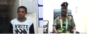 Stowaway, Sulemane Balde (left) & Tema PSM, Col. Nyante (right)