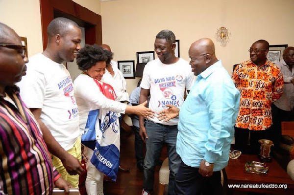 When Agya Koo led some actors to meet the president