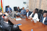 Vice President Dr. Mahamudu Bawumia interacting with the MTN executives
